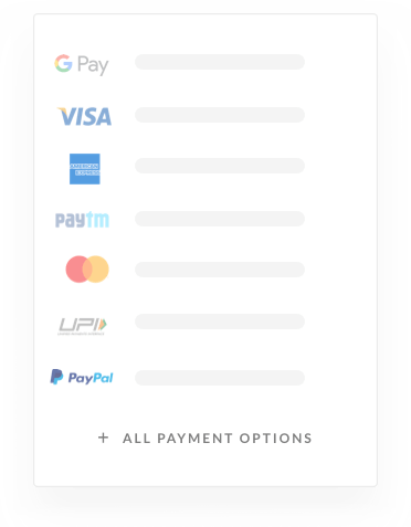 Collect payments using different payment modes